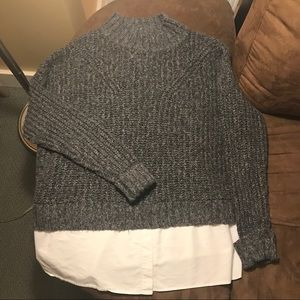 Far West Layered Grey Sweater